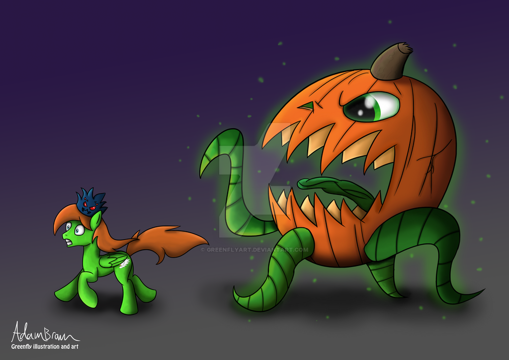 Monster Pumpkin! by GreenflyArt