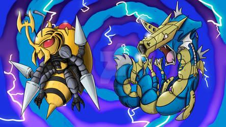 Pokemon fuse with Digimon