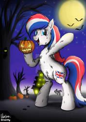 UK ponycon charity auction print - Theme spooky