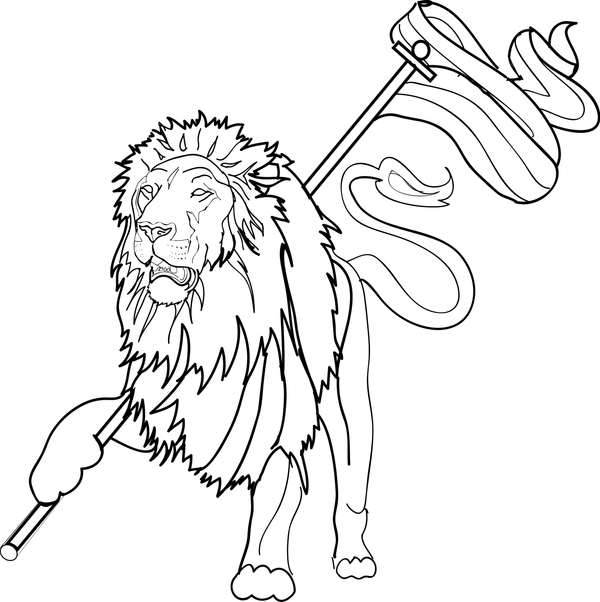 lion of judah free coloring pages