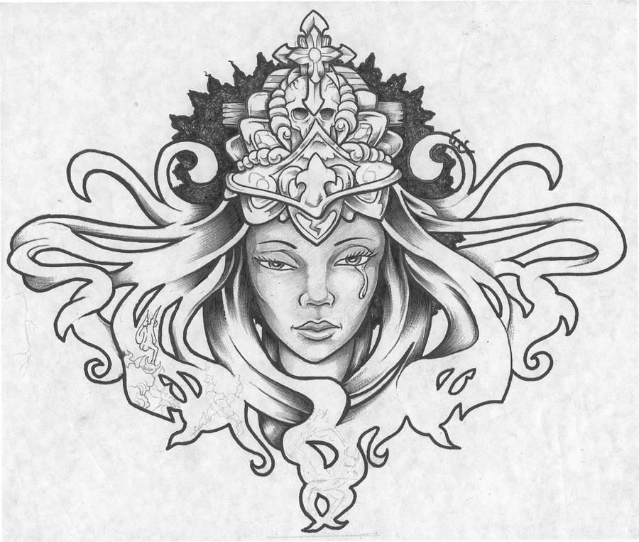 Queen tribulations by blinedzine3 on deviantart for Black african queen tattoos