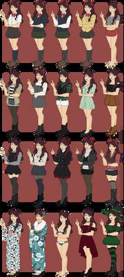 [KHR] Yuka Outfits by bossusaurus