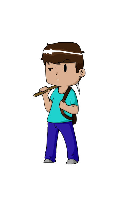 Minecraft Steve ChibiCartoon by Zhamwich on DeviantArt