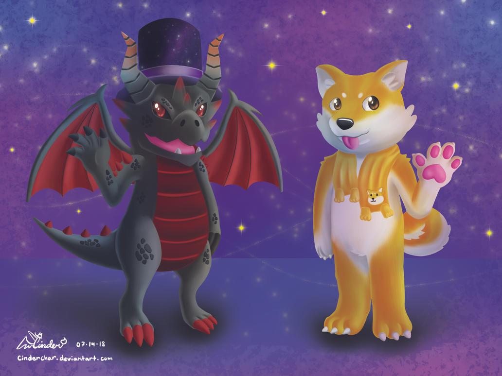 Dragon And Doge Roblox Avatars By Cinderchar On Deviantart