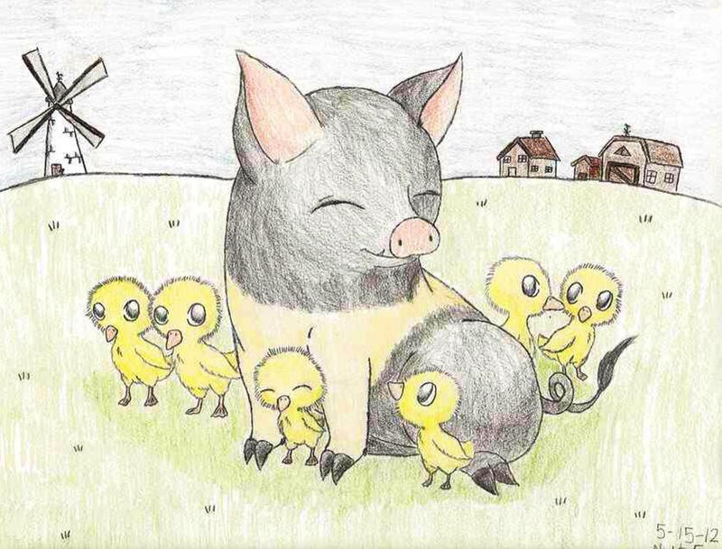 Napoleon animal farm drawing