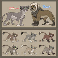 OTA Lion Family Adopts - [7/8]OPEN!! by Oxymoronic-Adopts