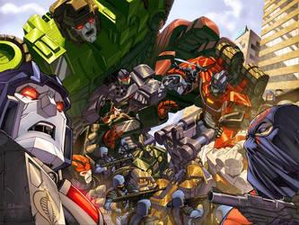 GI Joe Transformers No 4 cover by diablo2003