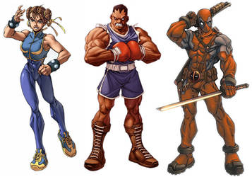 Character mock-ups by diablo2003