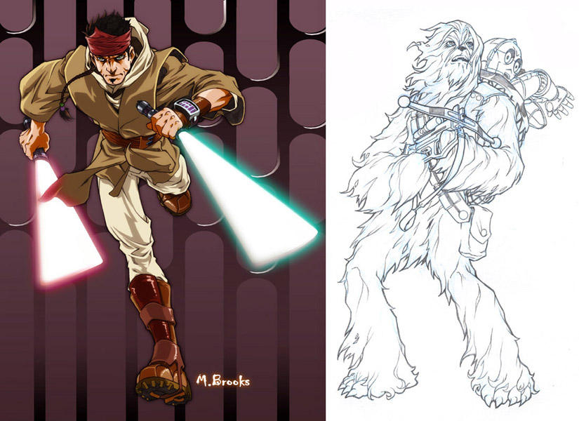 Star Wars Characters by Star Wars Characters Art