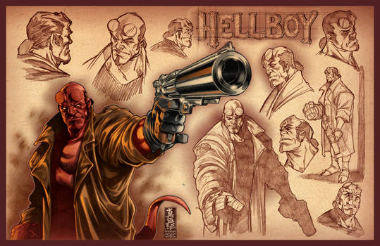 Hellboy sketches