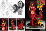 Scarlet Witch statue designs