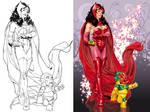 Scarlet Witch litho