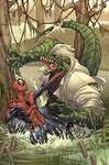 Spider-man cover- The Lizard