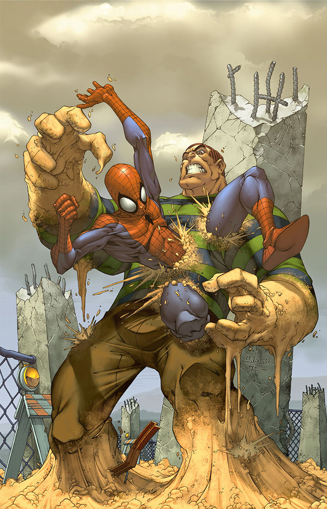 Spider-man cover- Sandman by diablo2003