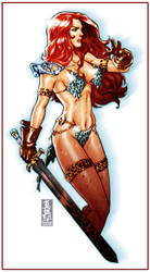 Red Sonja sketch by diablo2003