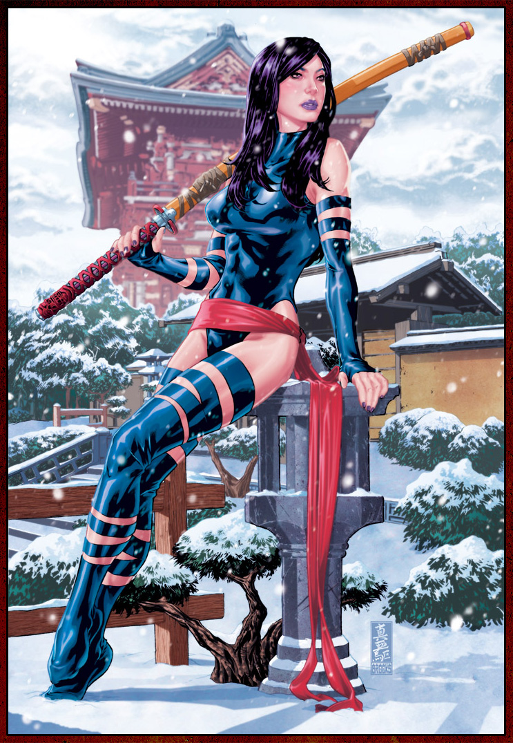 Psylocke by Mark Brooks
