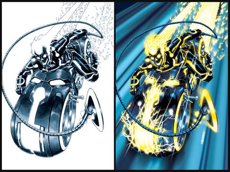 Ghost Rider- TRON-ified