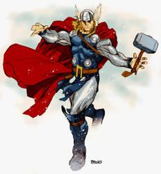 Thor warm-up sketch by diablo2003