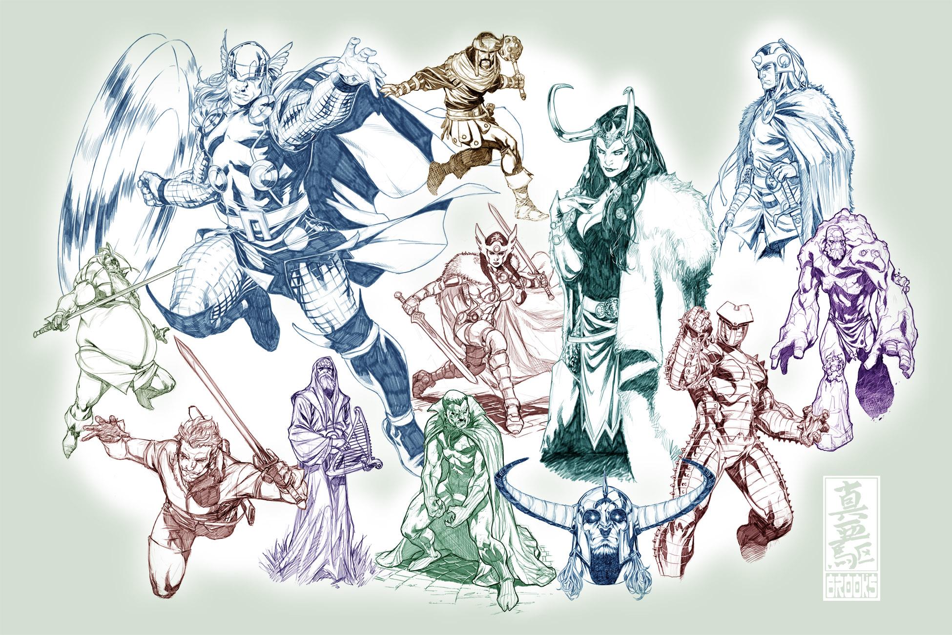 Thor sketch dump by diablo2003