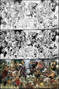 Thor lithograph
