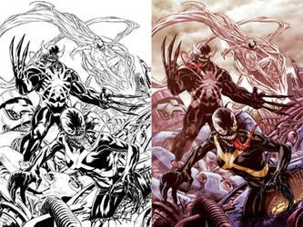X-Men Venom cover by diablo2003