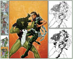 X-Men Legacy 266 cover step by step