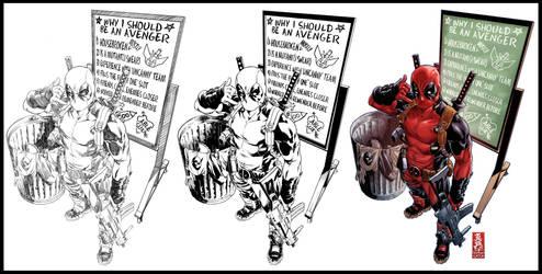 Deadpool variant cover by diablo2003
