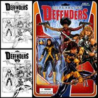 Fearless Defenders #2 cover by diablo2003