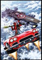 Deadpool #21 cover by diablo2003