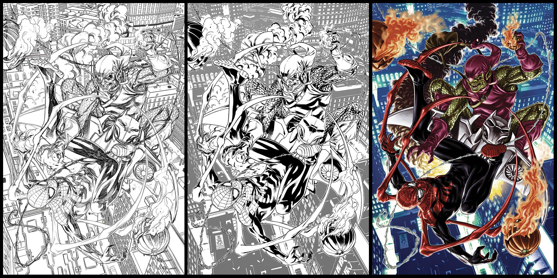 Spider-man vs Green Goblin speed art