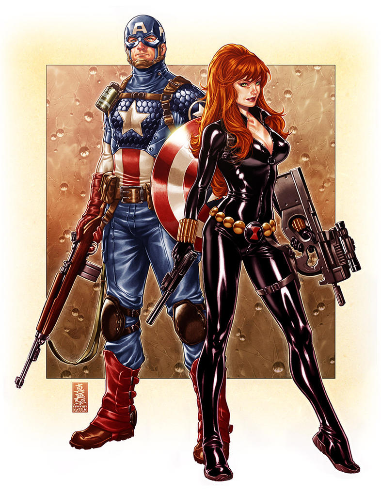 Capt. America and Black Widow by diablo2003
