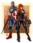 Capt. America and Black Widow