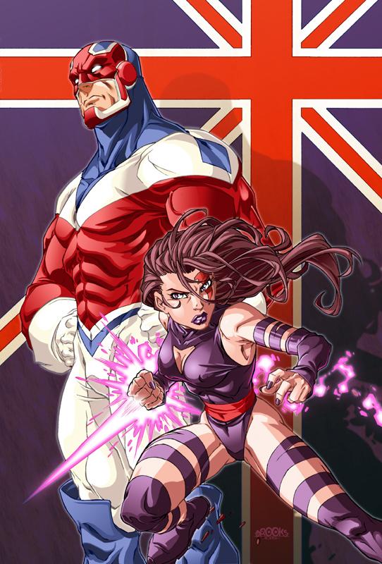 Captain britain and Psylocke