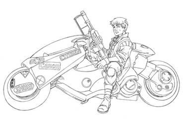Kaneda's ride-pencils by diablo2003