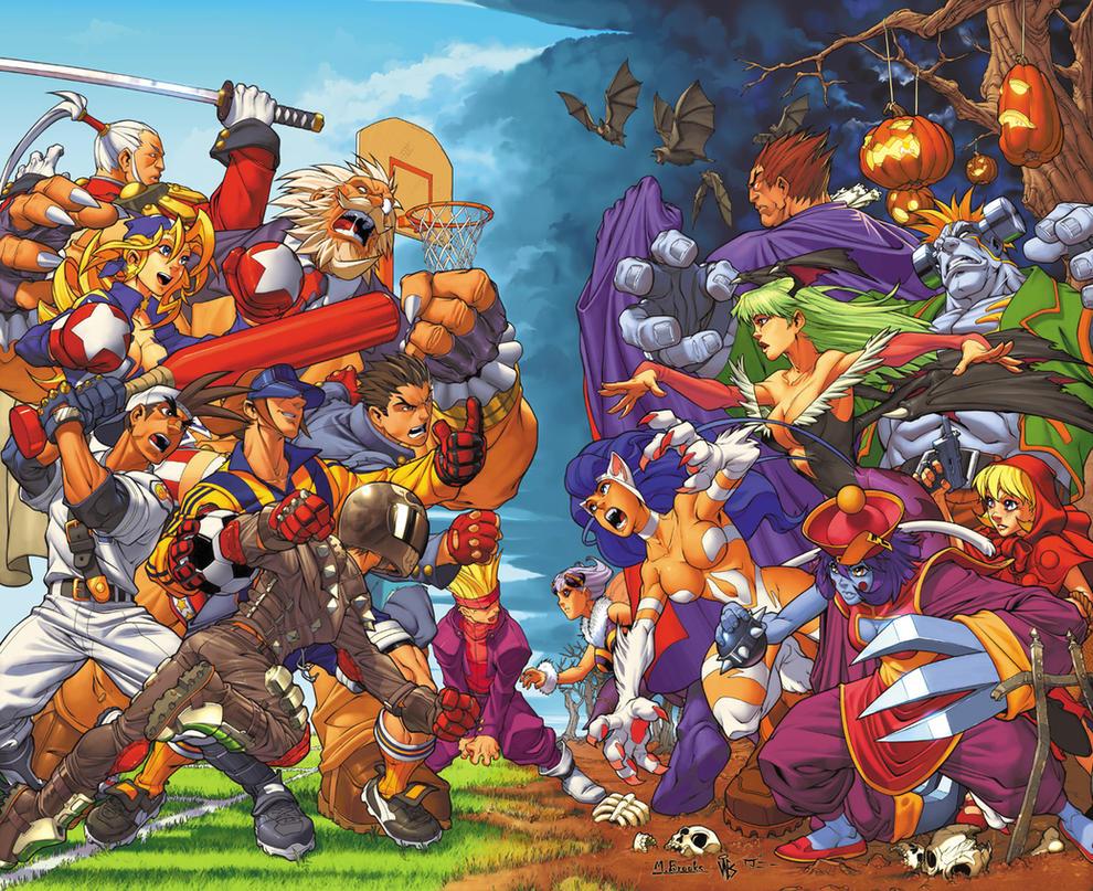 Rival Schools Vs. Darkstalkers by diablo2003