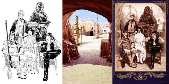 Star Wars Lithograph by diablo2003