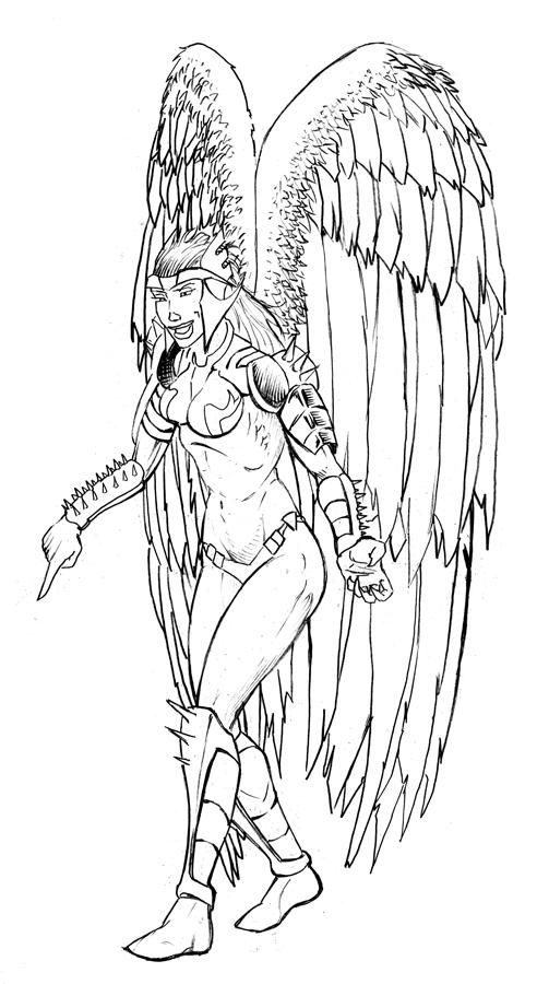Female Guardian Angel Drawing | www.imgkid.com - The Image ...