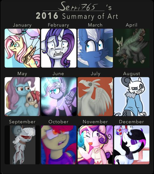 2016 summary of art by Serri765