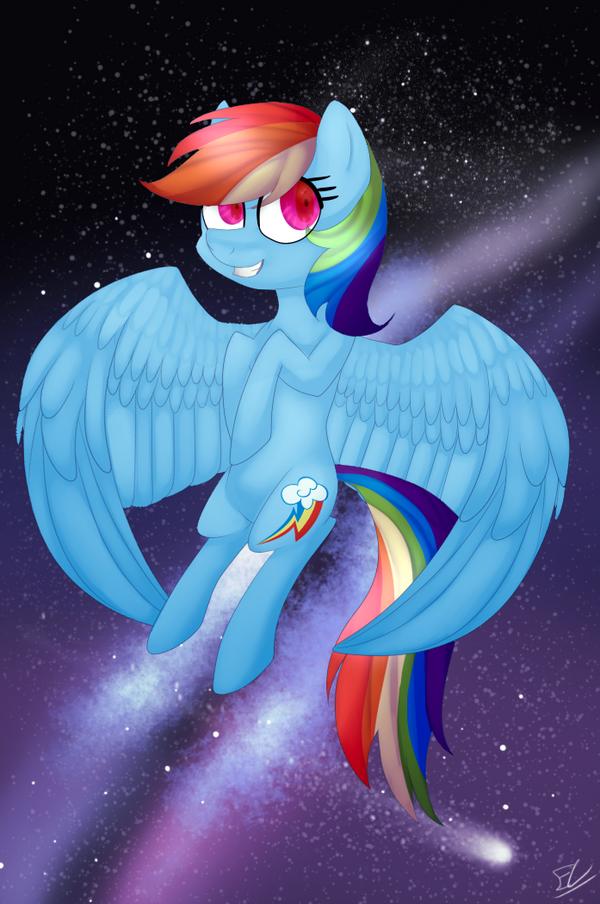Rainbow Dash (redraw) by Serri765