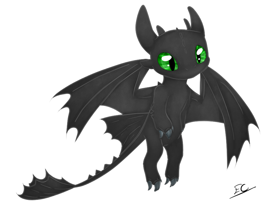 Toothless (new year gift) by Serri765