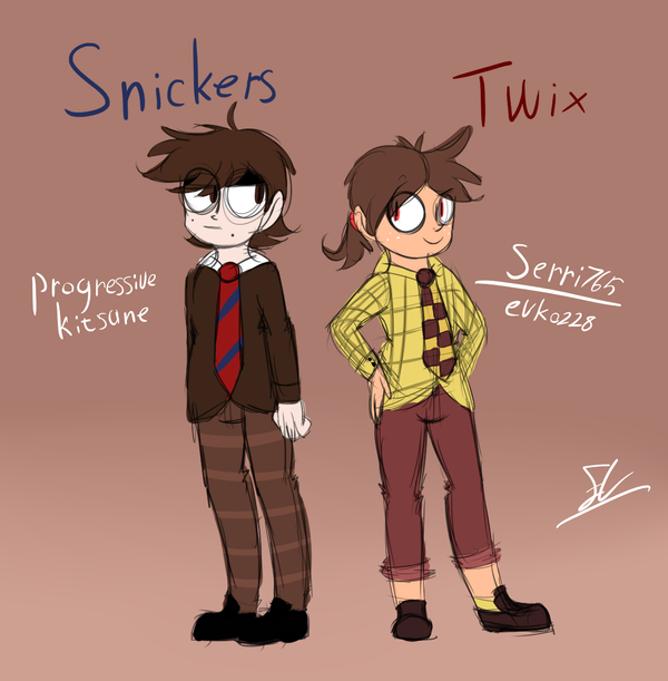 Snickers and Twix by Serri765