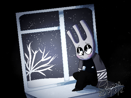 : a cold outside the window : by Serri765