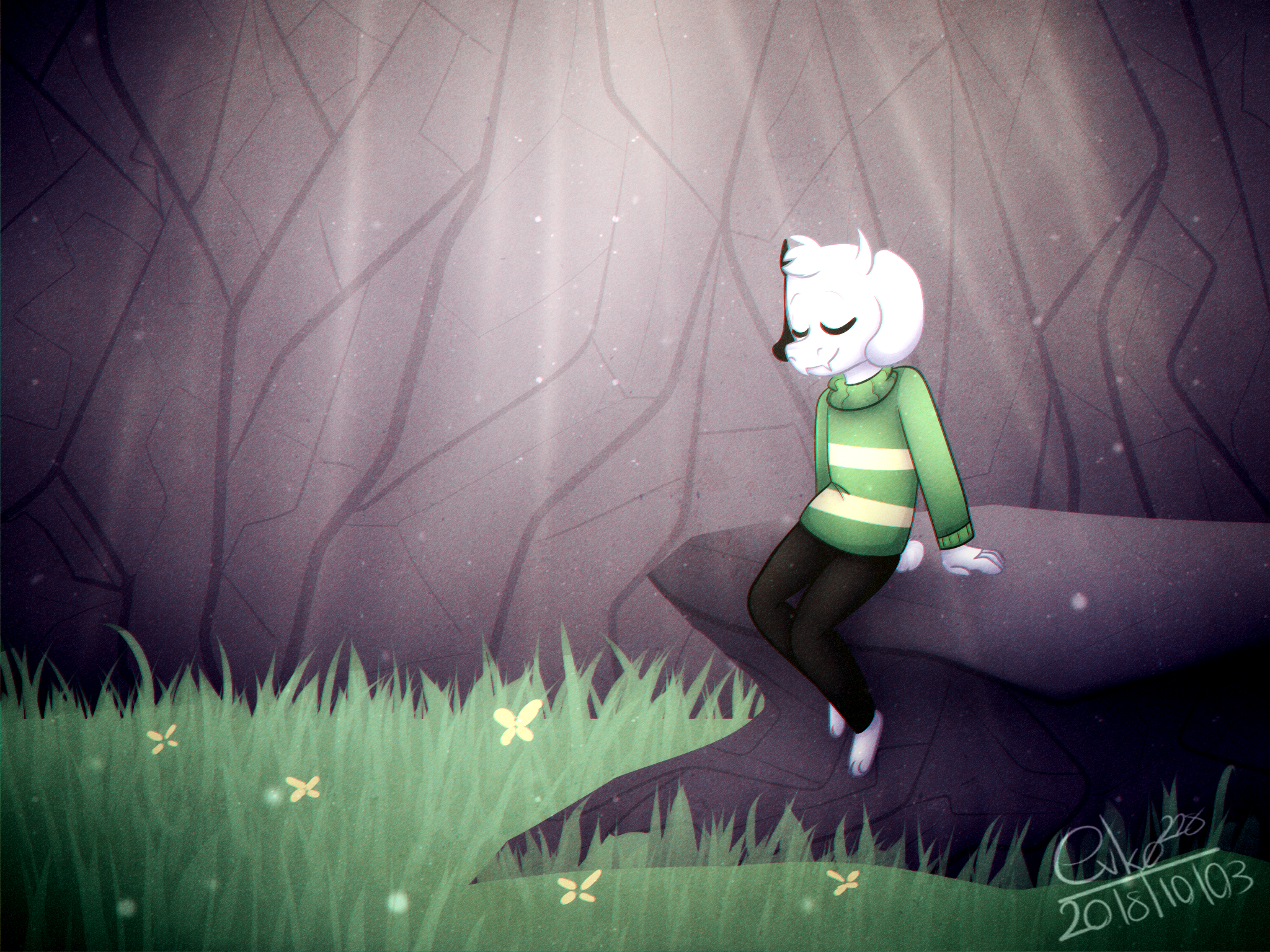 : asriel [redraw] : by Serri765
