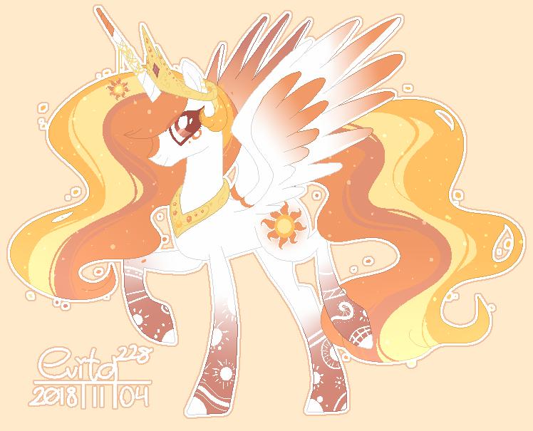 : princess Celestia re-design : by Serri765