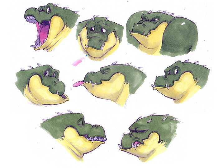 character expression sheet by bigmac996 on DeviantArt