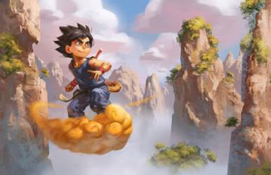Goku- Satellite Soda Daily Draw February by bigmac996