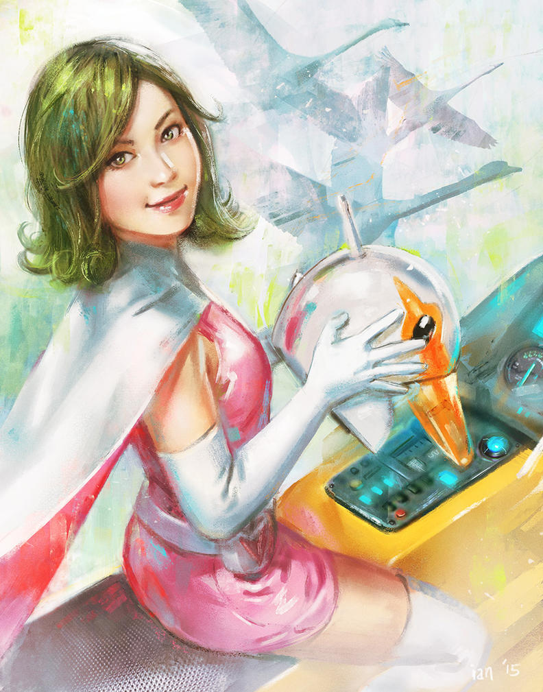 Jun the Swan- Tatsunoko Tribute by bigmac996