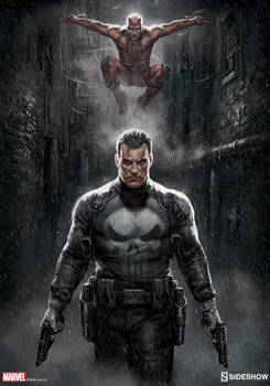 Punisher/ Daredevil Marvel Knights Sideshow Print