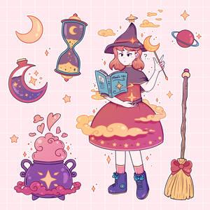 witch academy // sticker club august 2020
