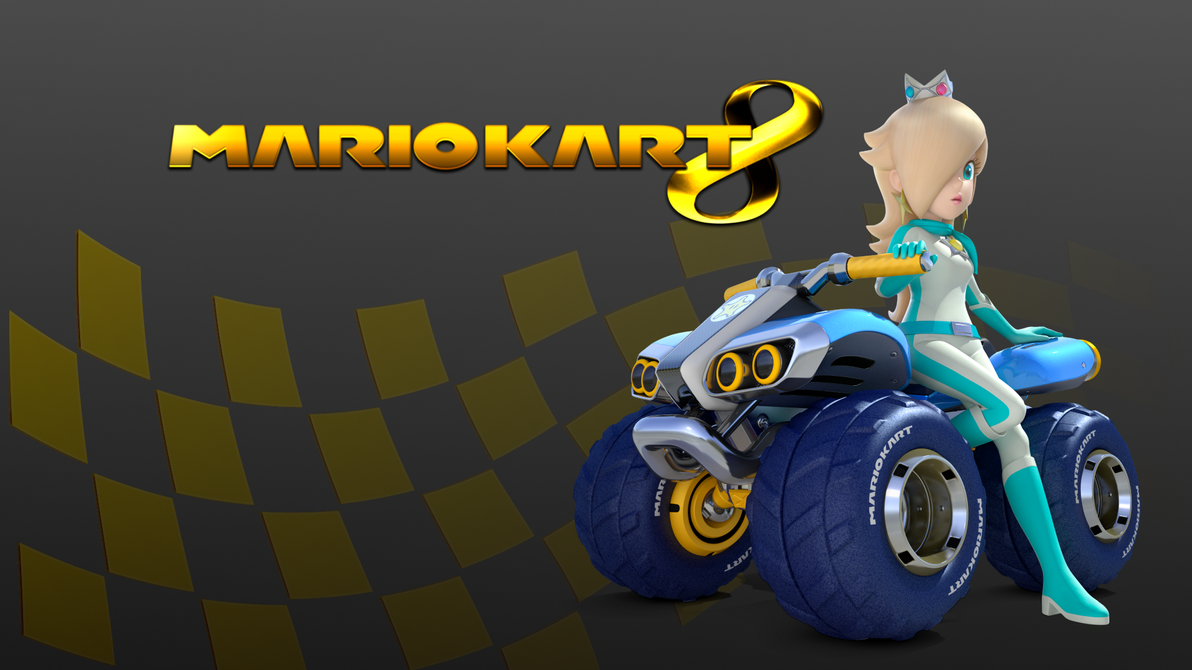 golden mario kart 8 wallpaper rosalina by mampfmaxo on